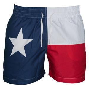 """M-PEX 5.5"""" Inseam Texas Flag Men's Swimming Trunks"""